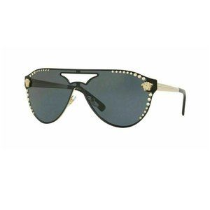 Versace Pilot Style Gray Tinted Lens.
